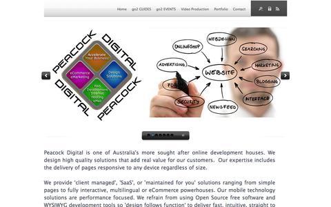 Screenshot of Home Page directmedia.com.au - website design bowral, web development, SEO, Google, video production, Peacock Digital - Homepage - captured Sept. 6, 2015