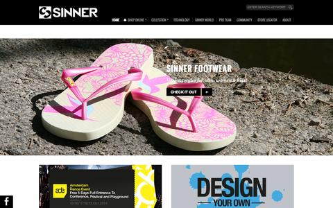 Screenshot of Home Page sinner.eu - Sinner - captured Sept. 19, 2014
