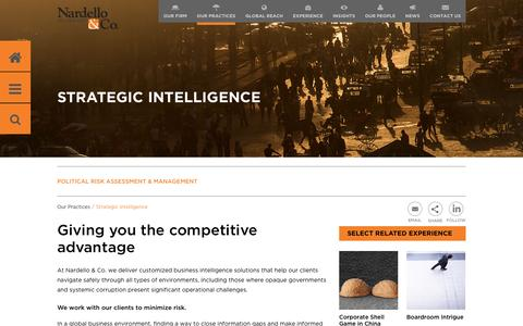 Giving you the competitive  advantage