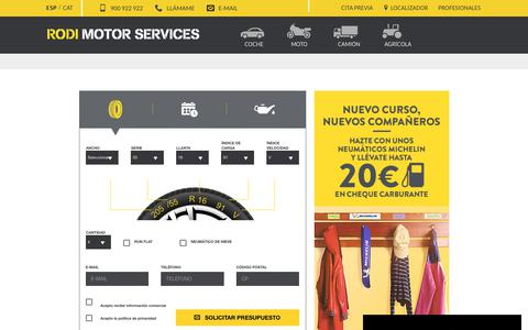Screenshot of Home Page rodi.es - RODI MOTOR SERVICES - captured Sept. 28, 2018
