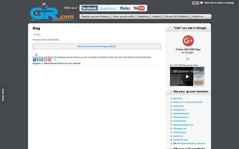 Screenshot of Blog domain.gr.com - GR.COM Blog | .GR.com SubLevel Domain Names Registry - GR COM - captured Nov. 21, 2017