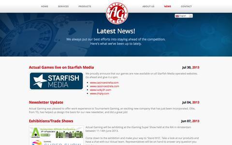 Screenshot of Press Page actualgaming.com - Actual Gaming - News - captured Oct. 4, 2014