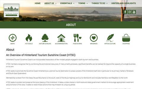 Screenshot of About Page hinterlandtourism.com.au - About - Hinterland Tourism - captured Aug. 14, 2017