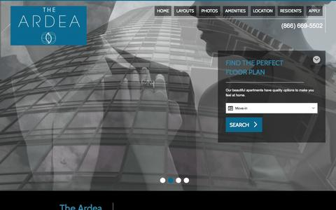 Screenshot of Home Page theardea.com - Apartments for rent in Portland, OR | Ardea - captured Oct. 10, 2015