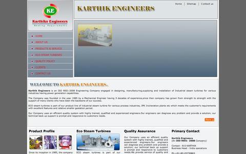 Screenshot of Home Page karthikengineers.com - Karthik Engineers - captured Jan. 9, 2016