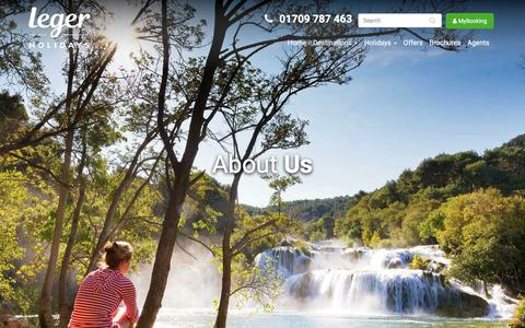 Screenshot of About Page leger.co.uk - About Leger Holidays: Luxuria & Silver Service Coaches | Leger Holidays - captured July 4, 2018