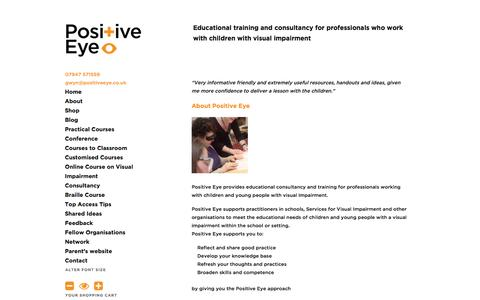 Screenshot of About Page positiveeye.co.uk - About Visual Impairment | Positive Eye - captured Oct. 8, 2014