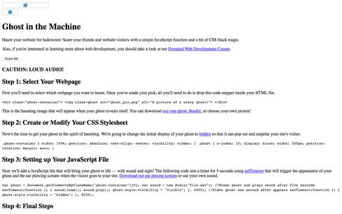 Halloween Programming Tutorial · Thinkful Programming Guides