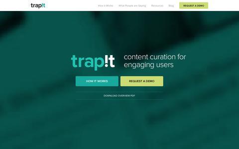 Screenshot of Home Page trapit.com - Trapit - captured Sept. 25, 2014