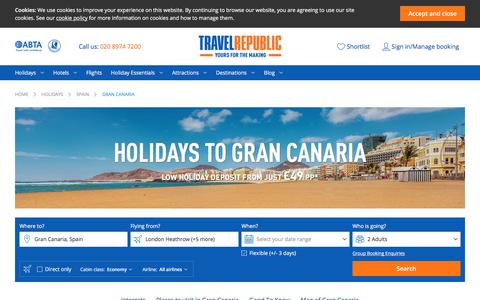 Cheap Holidays to Gran Canaria 2017/2018 | Travel Republic