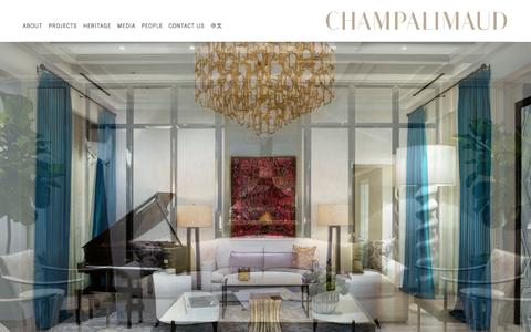 Screenshot of Home Page champalimauddesign.com - Home | Champalimaud Design - captured Sept. 19, 2015