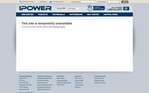 Screenshot of Privacy Page coastalcigars.com - This site is temporarily unavailable - captured July 3, 2015