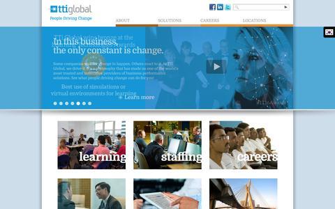 Screenshot of Home Page tti-global.com - TTi Global » People Driving Change - captured Oct. 19, 2018