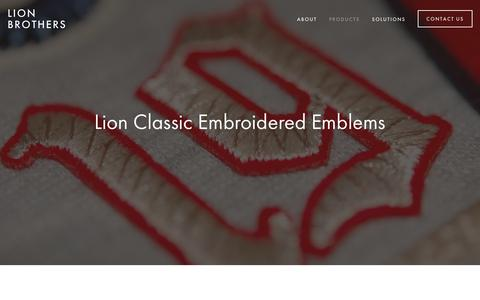 Screenshot of Products Page lionbrothers.com - Products — Lion Brothers - captured Aug. 16, 2017