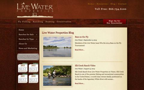 Screenshot of Blog livewaterproperties.com - Blog - Livewater Properties - captured Sept. 19, 2014