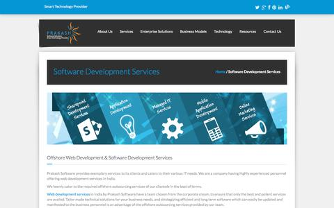 Screenshot of Services Page prakashinfotech.com - Software Development Services | Offshore Web Development - captured Oct. 2, 2015
