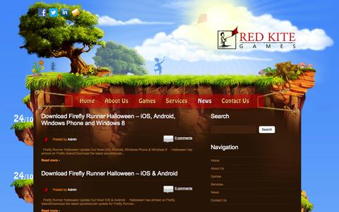 Screenshot of Press Page redkitegames.co.uk - News | Red Kite Games - captured Oct. 26, 2014