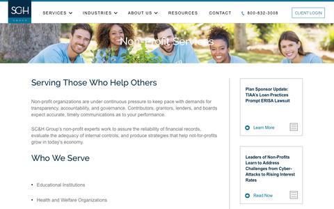 Non-Profit Services | SC&H Group