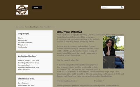 Screenshot of About Page baselbagels.com - Real, Fresh, Delivered | Basel BagelsBasel Bagels - captured Sept. 30, 2014