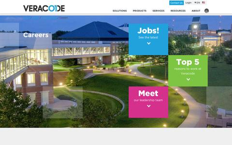 Screenshot of Jobs Page veracode.com - Careers | Veracode - captured May 3, 2016