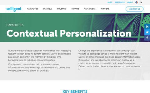 Contextual Personalization | Selligent