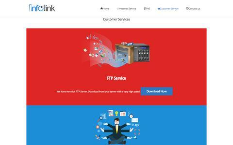 Screenshot of Support Page infolinkbd.com - Customer ServiceInternet Service Provider – ISP - captured Feb. 11, 2016