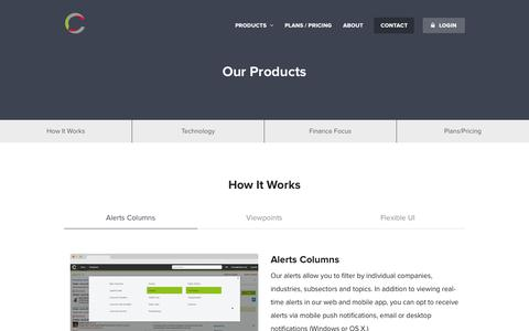 Screenshot of Products Page Pricing Page contix.com - Products | Contix - captured Oct. 28, 2014