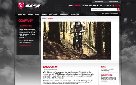 Screenshot of About Page bergcycles.com - Berg Cycles Company - captured Sept. 30, 2014