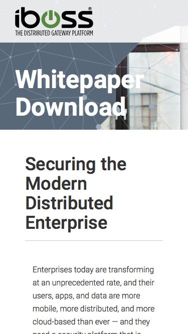 Securing the Modern Distributed Enterprise
