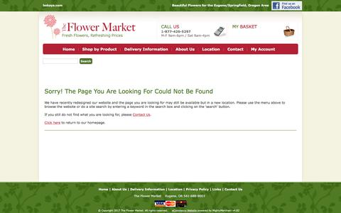 Screenshot of Privacy Page Login Page bokays.com - The Flower Market -The best flowers/florists in Eugene/Springfield Oregon - captured April 23, 2017