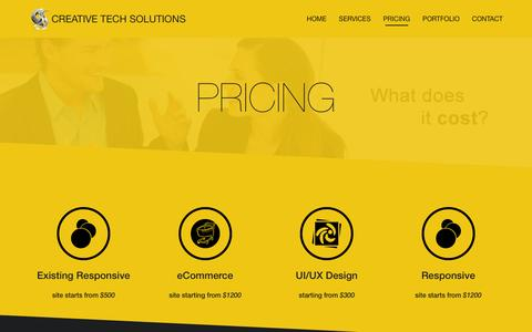 Screenshot of Pricing Page creativetech-solutions.com - Pricing - Creative Tech Solutions - captured Dec. 13, 2015