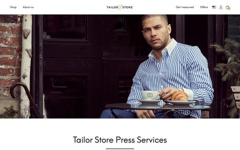Screenshot of Press Page tailorstore.com - Tailor Store | Tailor Store® - captured Dec. 10, 2019