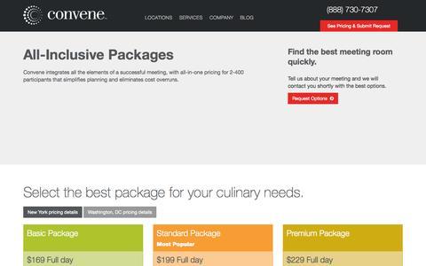 Screenshot of Pricing Page convene.com - Request a Proposal   Convene - captured Nov. 2, 2014