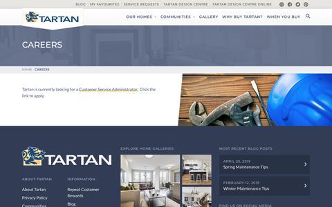 Screenshot of Jobs Page tartanhomes.com - Careers | Tartan Homes - captured Aug. 14, 2019