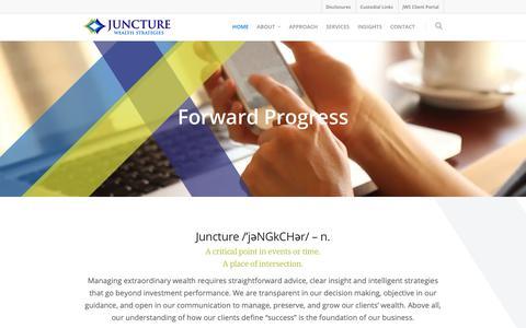 Screenshot of Home Page juncturewealth.com - Juncture Wealth Strategies - captured Oct. 14, 2018