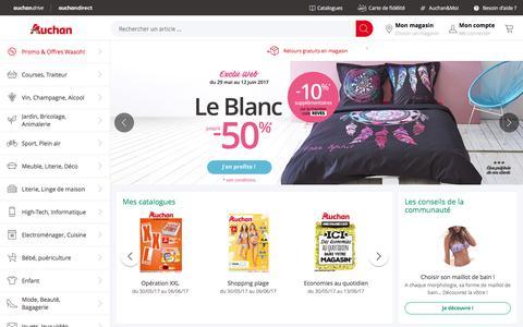 Screenshot of Home Page auchan.fr - Auchan. Infos magasins, services et achat en ligne - captured May 30, 2017
