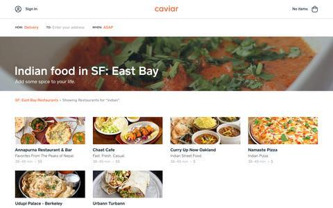 Indian food in SF: East Bay | Caviar