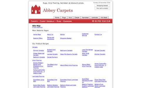 Screenshot of Site Map Page abbey-carpets.co.uk - Site Map : Abbey Carpets - captured Nov. 20, 2016