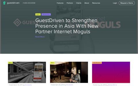 Screenshot of Press Page guestdriven.com - Media - GuestDriven - captured Dec. 4, 2015