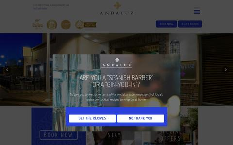 Screenshot of Home Page hotelandaluz.com - Hotel Andaluz   Historic Boutique Hotel, Downtown Albuquerque, NM - captured May 23, 2017