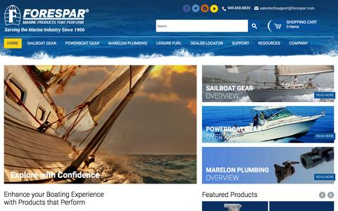 Screenshot of Home Page forespar.com - Forespar¨ - captured Jan. 8, 2016