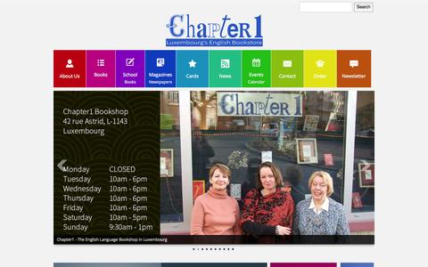 Screenshot of Home Page chapter1.lu - Home - captured Oct. 2, 2014
