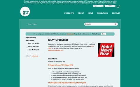 Screenshot of Press Page strglobal.com - STR Global - captured Oct. 21, 2018