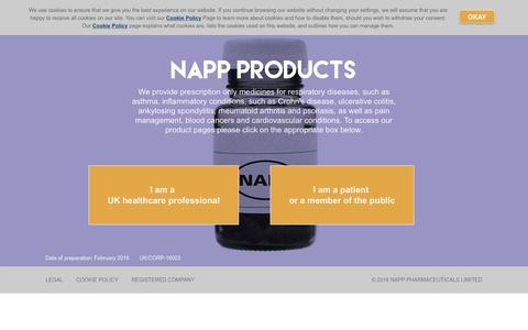 Screenshot of Products Page napp.co.uk - Products - Napp - captured Feb. 22, 2016
