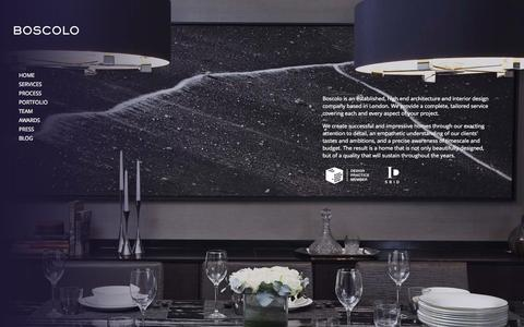 Screenshot of Site Map Page boscolo.co.uk - Boscolo |  High End Luxury Interior Designers in London - captured Oct. 5, 2014