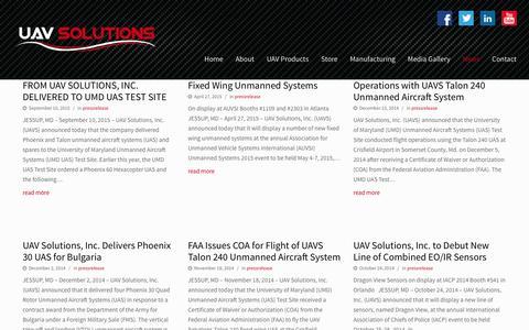 UAV Solutions  | News
