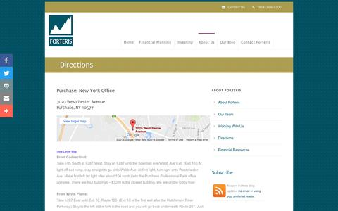 Screenshot of Maps & Directions Page forteriswealth.com - Purchase, NY Wealth Management Firm - captured Nov. 25, 2016