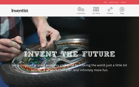 Screenshot of Home Page inventist.com - Welcome :: Inventist - captured Oct. 1, 2015