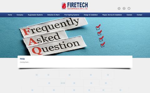 Screenshot of FAQ Page firetech.com.pk - FAQs | FIRETECH - captured Oct. 10, 2018