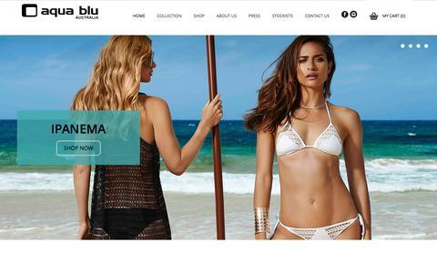 Screenshot of Home Page aquablu.com.au - Aqua Blu Australia - An Australian Swimwear IconAqua Blu   Swimwear - captured Feb. 6, 2016